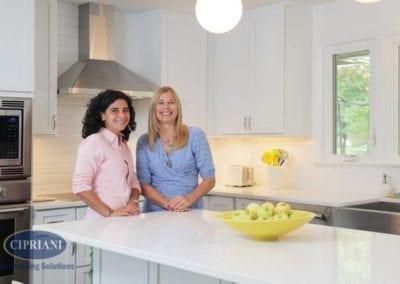 Haddonfield retro kitchen remodel – Cindy Cipriani w/ client