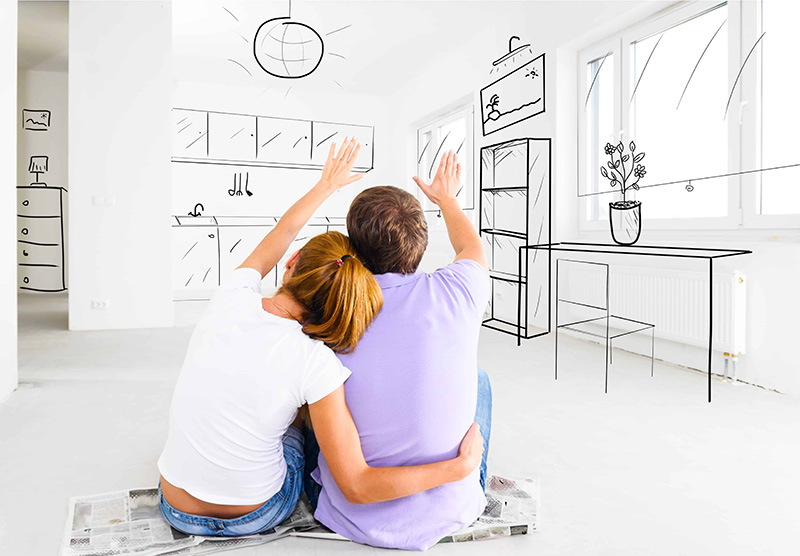Couple Planning Kitchen Remodel